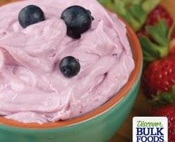 natural blueberry dip